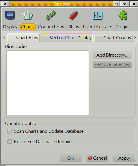 Chart Files Tab [OpenCPN Manuals]